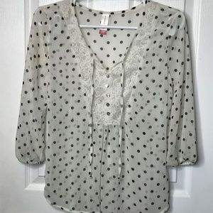 White Stag White Top W/ Black Polka Dots (s)